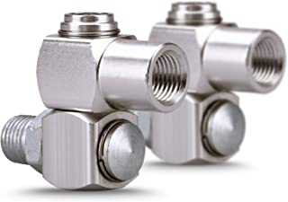 """ABN 1//4/"""" Inch NPT 360 Degree Swivel Connector with Tension Control"""