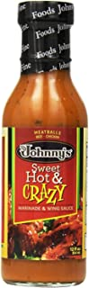 Johnny's Sweet Hot and Crazy Marinade and Wing Sauce, 12 Ounce (Pack of 3)