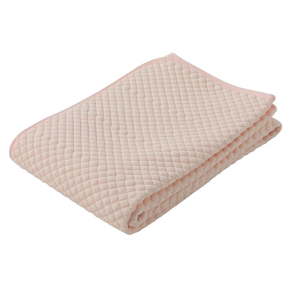 資料取り出す困惑した東京西川 敷きパッド ピンク シングル 綿100% ふわふわ パイル ポコポコ さっぱり使える 無地 PIS0601415P