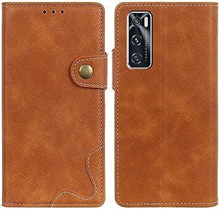 MOONCASE Vivo Y70/V20 SE Case, Premium PU Leather Cover Wallet Pouch Flip Case Card Slots Magnetic Closure Mobile Phone Pr...
