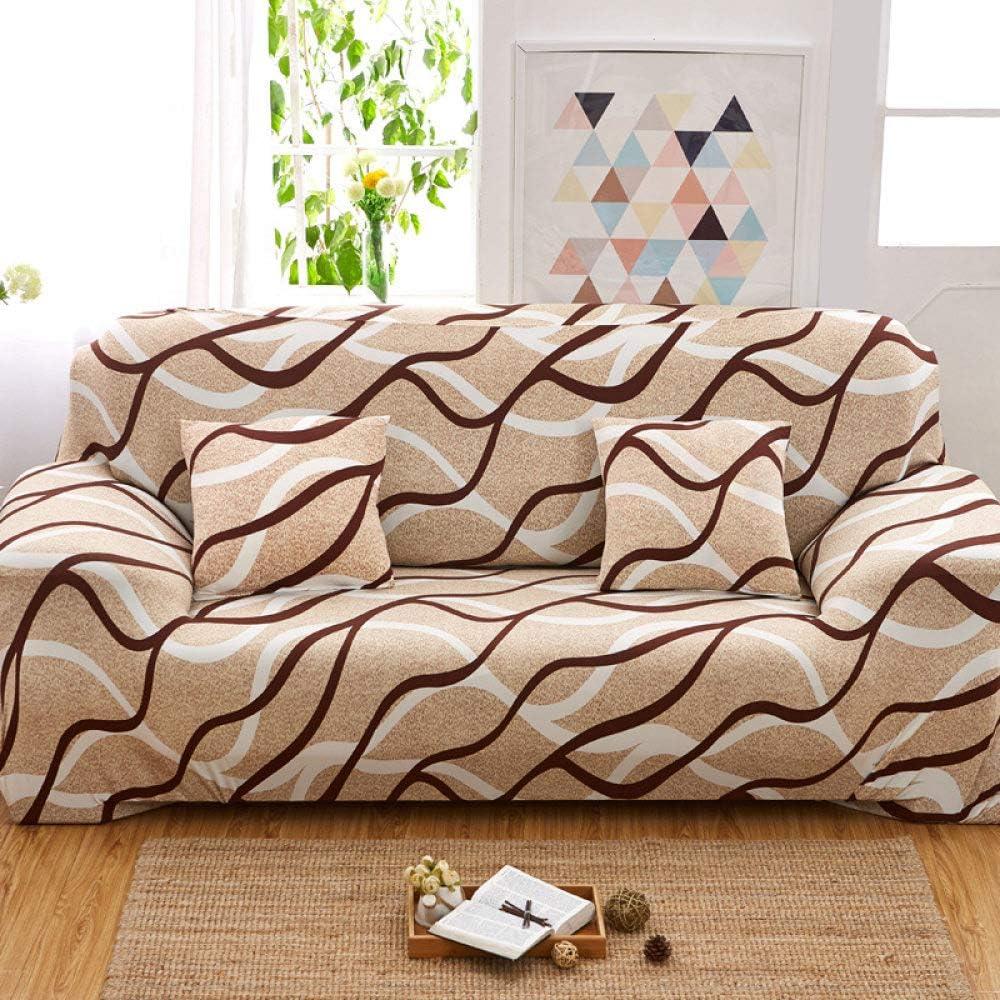Philadelphia Mall Sofa Cover Retro Brown Creative S Style trend rank Ripple Country Geometric