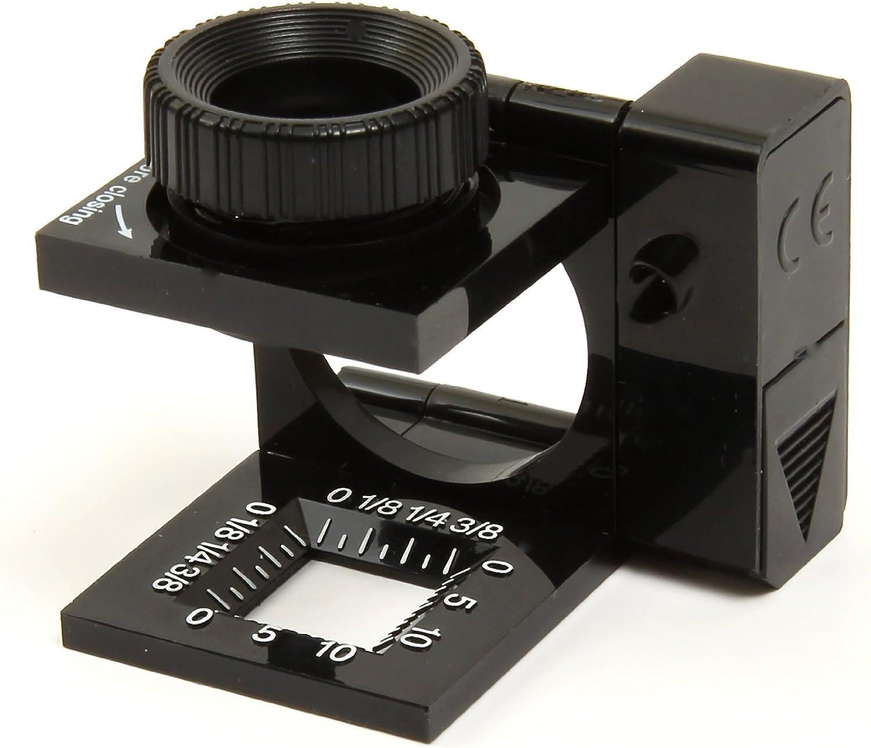 Lot of 6 Carson LT-10 Magnifier Lighted 11.5X Linen Tester Dual Lens Measuring
