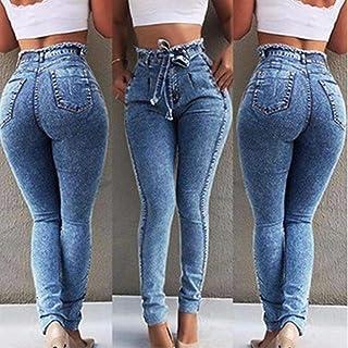 Pantalones Jeans Women Jeans High Street Fashion High Waist High Stretch Slim Pants Calf Length Office Lady Pants Are Clas...