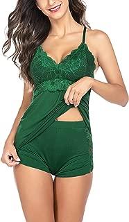 Women Cami Sleepwear Set Lace Camisole Short Set Sexy Nightwear Sleepwear