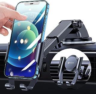 [به روزرسانی شده] دارنده اتومبیل تلفن VICSEED ، دارنده تلفن همراه اسلاید Easy One Slide برای داشبورد اتومبیل هواگیر شیشه جلو اتومبیل ، پایه نگهدارنده تلفن قوی اتومبیل ساکشن سازگار با iPhone 12 Pro Max Galaxy همه تلفن ها