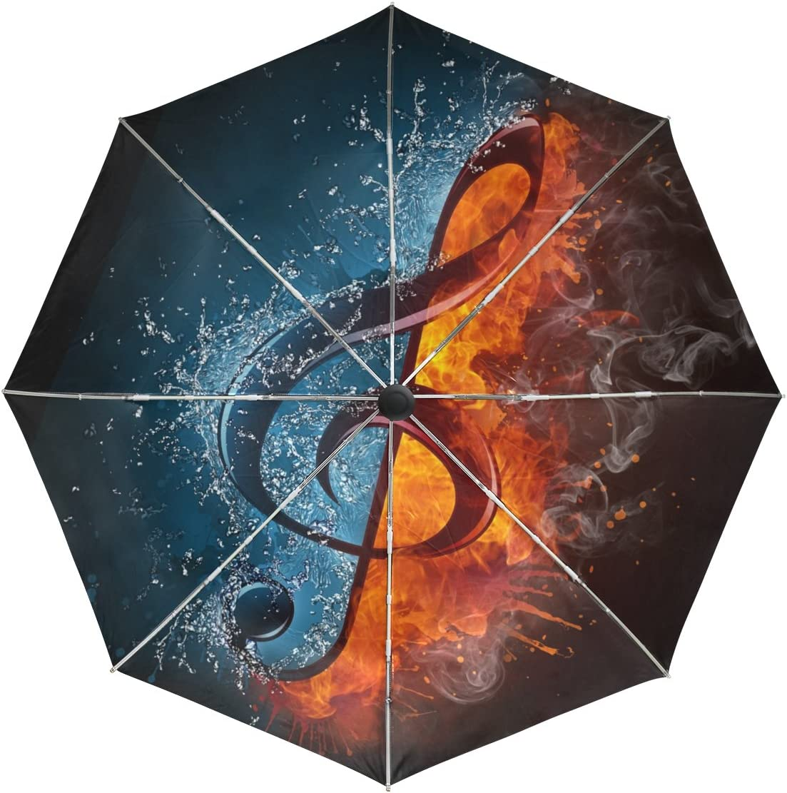 baihuishop Department store Water and Fire Musical Windproof Umbrellas Spasm price Auto Note