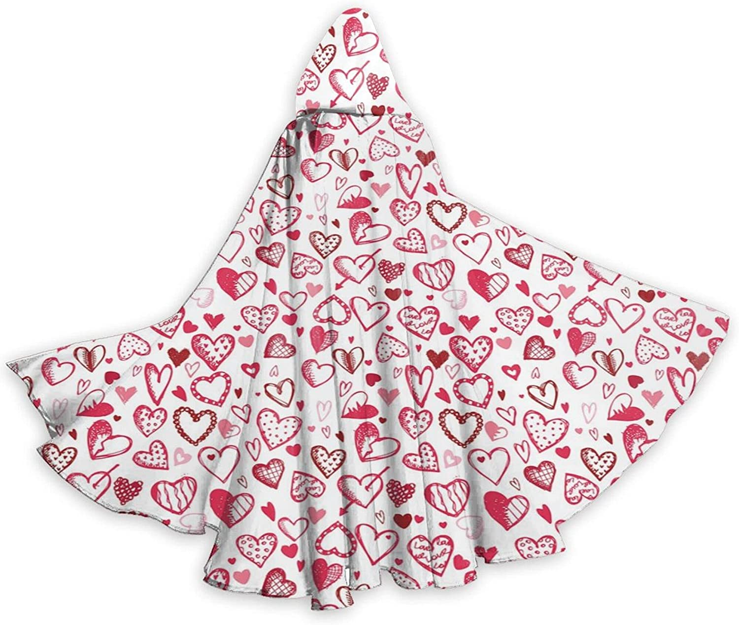 Cloak Doodle Style Sketch Hearts With Polka Dots Very popular Insc Lines Our shop most popular Love