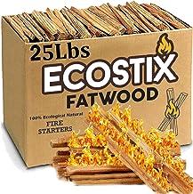 EasyGoProducts Eco-Stix Fatwood Fire Starter Kindling Firewood Sticks – 100% Organic – Firestarter for Wood Stoves, Firepl...