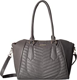 Chevron Quilted Satchel
