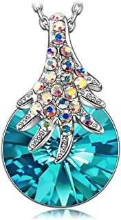 LADY COLOUR Christmas Necklace Gifts for Women The Wishing Tree Pendant Necklace Made with Swarovski Crystals, Fashion Jewelry for Girls Make You own Wish Hypoallergenic Jewelry Gift BoxPacking