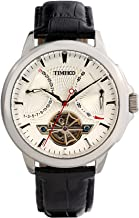 Time100 Mens Wrist Leather Strap Mechanical Self Wind Watches Navigator-Series Tourbillon-Style Automatic Watch for Men