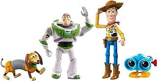 Toy Story Baú de Brinquedos do Andy, Conjunto de 4 Figuras de Ação Woody, Binóculos Lenny, Cachorro Slinky e Buzz Lightyea...