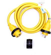 Amp Up Marine & RV Cords 125v 30 amp x 12' Marine Shore Power Boat Extension Cord, 12 ft