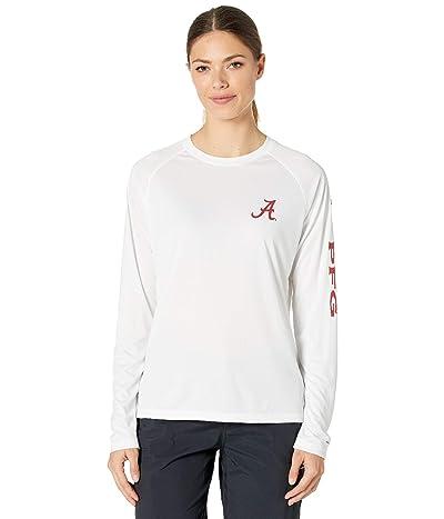 Columbia College Alabama Crimson Tide Collegiate Tidal Long Sleeve Shirt (White/Red Velvet) Women