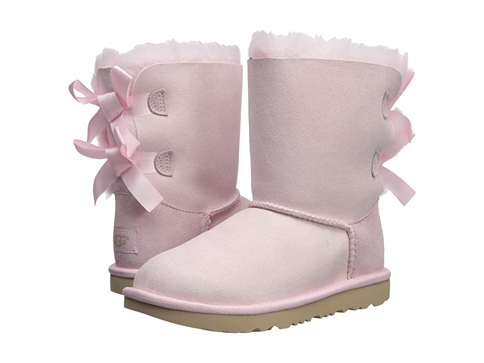 UGG Kids Bailey Bow II (Little Kid/Big Kid) (Seashell Pink) Girls Shoes