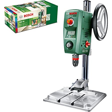 Perceuse à Colonne Bosch - PBD 40 (710W, livrée avec butée parallèle, pince à serrage rapide, emballage carton)