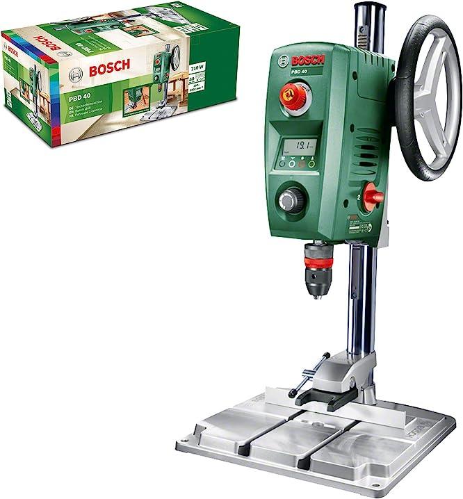 Trapano a colonna per acciaio e legno, 710 w, verde13 mm e 40 mm, 200 – 850 / 600 – 2.500 giri/min PBD 40