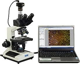 OMAX 40X-2500X Brighter Darkfield LED Trinocular Compound Microscope with 9MP Digital Camera