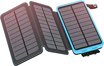 Solar Charger 24000mAh YONSIEO Solar Power Bank with 3 Panels Portable Phone Chargers Battery Pack for Smartphones, Tablets, Outdoor Waterproof