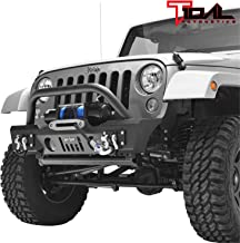 Tidal Stubby Front Bumper with Fog Light Housing and Winch Plate Fit for 07-18 Jeep Wrangler JK