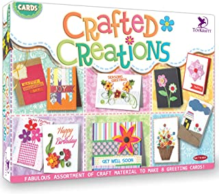 Toykraft: Cards Crafted Creation Craft And Collage Activity For 5 To Adults For Making 8 Greeting Cards From Craft Material