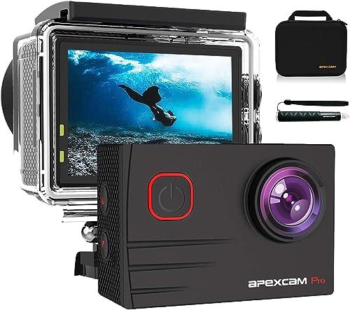 【2020 Nuova 】Apexcam 4K Action Cam Pro 20MP EIS WIFI Fotocamera Impermeabile 40M Sott'acqua Ultra HD Sports Camera Mi...