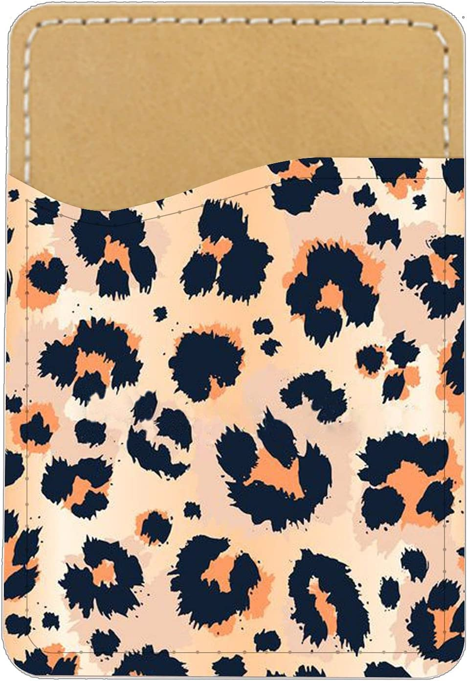 Compatible for Card Holder Shock Proof Manmade Leather for Boy with Little Leopard