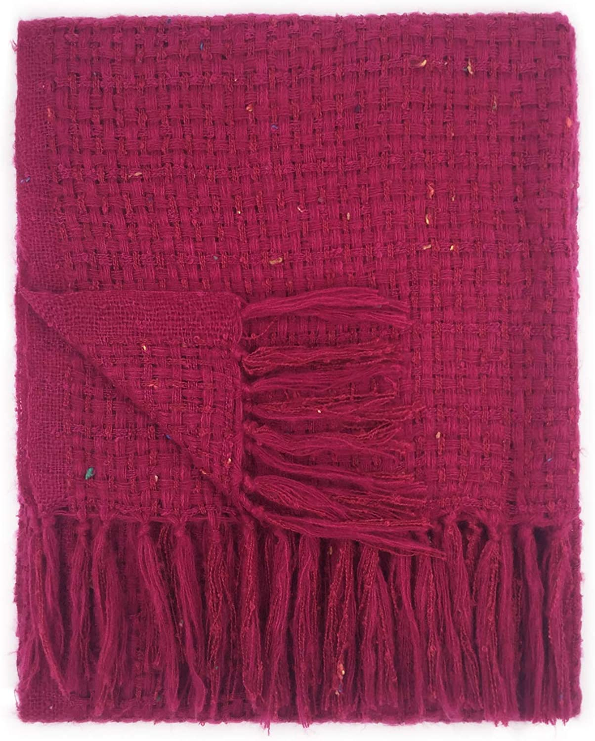 Womens Knitted Cable Scarf with Tassel
