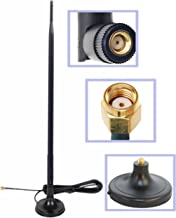 Wi-Fi 9dbi Gain Extension Omni Directional 2.4Ghz - 2.5Ghz 802.11a/b/g/n/ac Antenna RP-SMA Male on Magnetic Base (1.65 ft /19.5 inches/ 50 cm RG174 Coaxial Low Loss Cable)