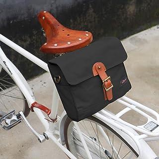 Tourbon防水キャンバス サイクリングバイク ハンドルバー自転車ショルダーストラップ収納バッグ