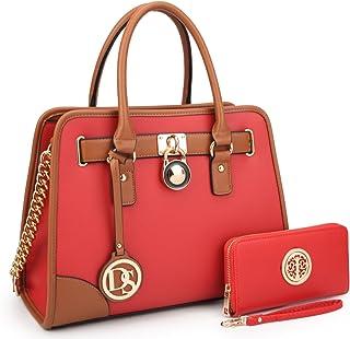 Women Designer Handbags and Purses Ladies Satchel Bags Shoulder Bags Top  Handle Bags w Matching 3ef6cb9d871c1