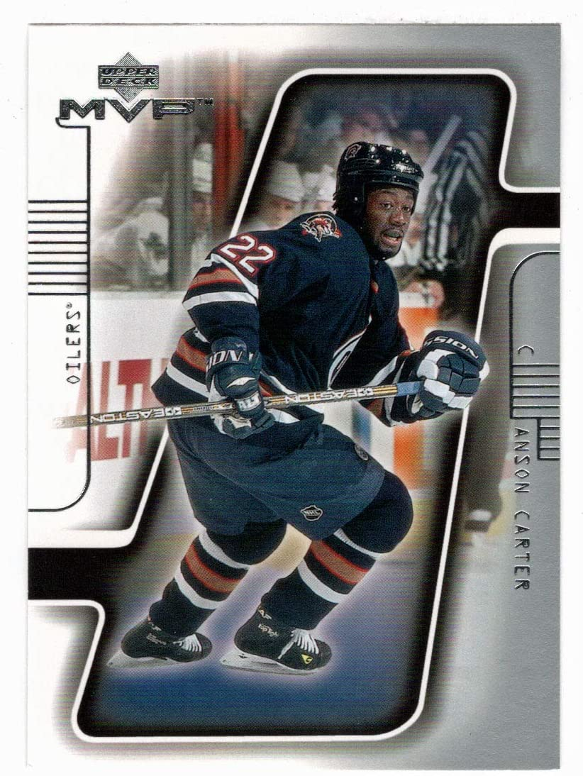 Anson Carter - Edmonton Oilers Hockey Deck Award-winning store Upper 2001-02 Card New life