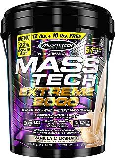Mass Gainer Protein Powder   MuscleTech Mass-Tech Extreme 2000   Muscle Builder Whey Protein Powder   Protein + Creatine +...