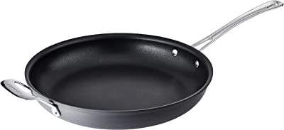 Cuisinart Contour Hard Anodized 12-Inch Open Skillet with Helper Handle,Black