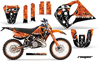 Wholesale Decals MX Graphics kit Sticker Decal Compatible with KTM C6 SX XC EXC LC2 1993-1997 - Reaper Orange
