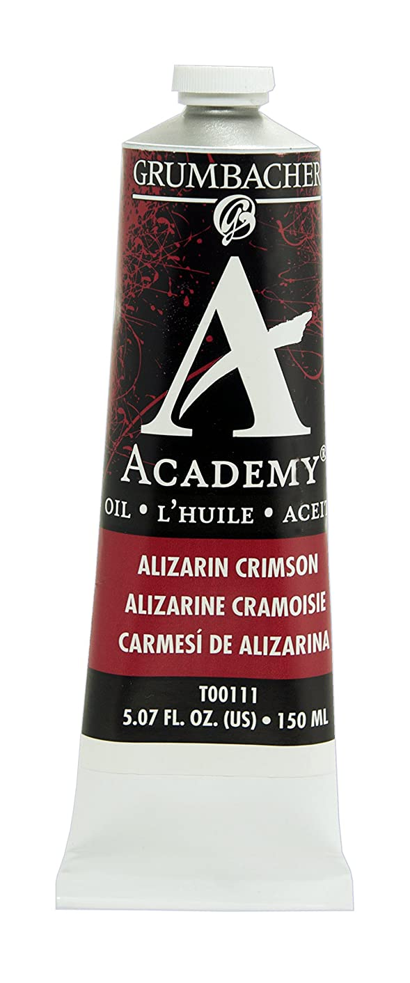Grumbacher Academy Oil Paint, 150 ml/5.07 oz, Alizarin Crimson
