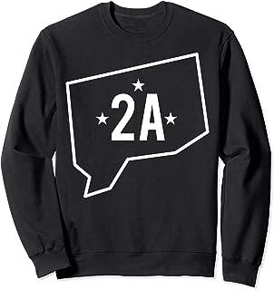Connecticut Second Amendment State 2A Gun Owner Rights Sweatshirt