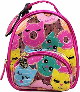 Luv Betsey Women's Sage Clear Mini Donut Cat Print Backpack