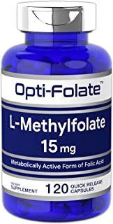 L Methylfolate 15mg | 120 Capsules | Value Size | Max Potency | Optimized and Activated | Non-GMO, Gluten Free | Methyl Fo...