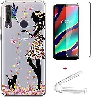 """HYMY fodral + skärmskydd för Wiko View3 Pro (6.3"""") - Translucent Cute Fashion Clear TPU Mjuk Silikon Protection Gel Fashio..."""