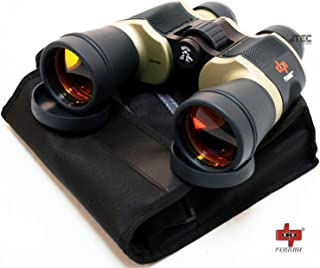 High Quality Outdoor Bronze Binoculars Day/night 20x60 with Pouch By Perrini P600