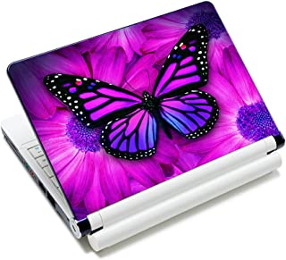 AUPET Personalized Laptop Skin Sticker Decal,12 13 13.3 14 15 15.4 15.6 inch Laptop Skin Sticker Cover Art Decal Protector Notebook PC(Big Purple Butterfly)