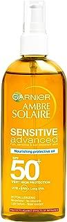 Garnier Ambre Solaire Sensible Avanzada Sun Aceite Nutriente Protección con SPF 50