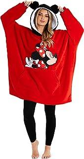 Disney Women's Hoodies, Oversized Blanket Hoodie, Minnie and Mickey Gifts