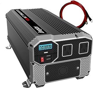 Energizer 4000 Watt 12V Power Inverter, Dual 110V AC Outlets, Automotive Back Up Power Supply Car Inverter, Converts 120 Volt AC with 2 USB Ports 2.4A Each