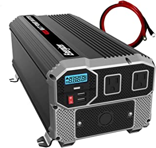 Energizer 4000 Watts Power Inverter 12V to 110V, Dual 110 Volt AC Outlets, Modified Sine..