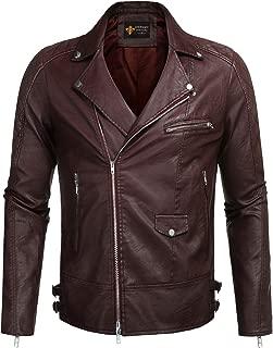 COOFANDY Men's Velvet Rivet Design Punk Rock Motorcycle Biker Jacket Zipper Coat