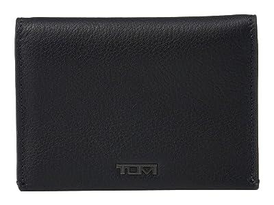 Tumi Nassau Folding Card Case (Black Textured) Wallet