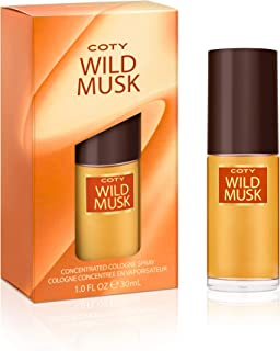 Coty  Wild Musk Cologne Concentrate Spray 1 Fluid Ounce Women's' Fragrance in a Floral Scent, Great Gift for Cologne or Perfume Lovers