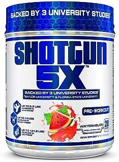 VPX Shotgun 5X Pre Workout Supplement for Men - Preworkout Energy Powder - Watermelon Flavor - 20 Servings
